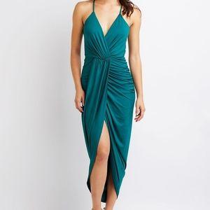Teal/green Wrap dress